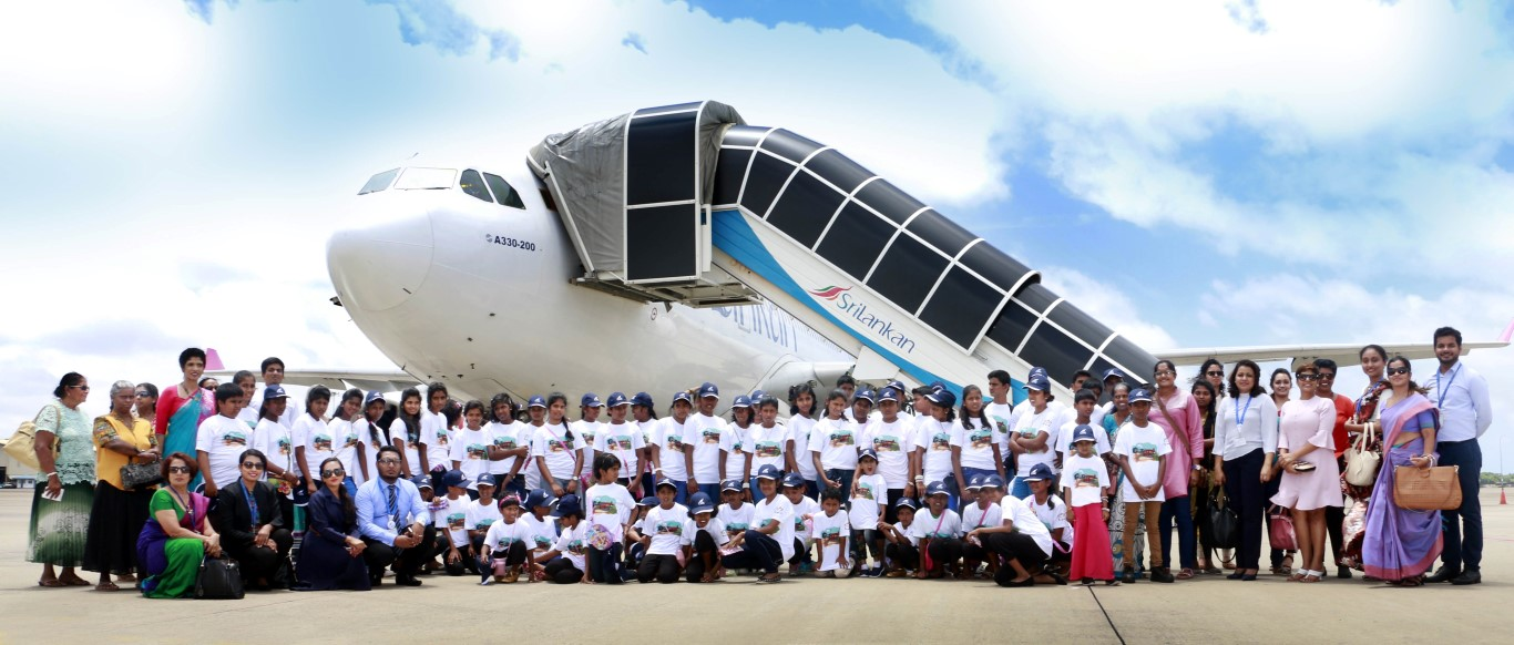 SriLankan Cares team together with the children at BIA