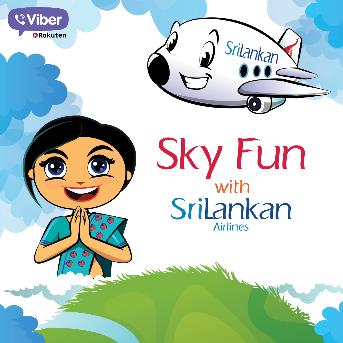 Download Viber stickers for Srilankan Airlines